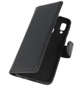 MF Handmade Leather Bookstyle Case for Samsung Galaxy A40 Black