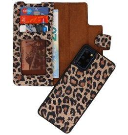 Luipaard 2 in 1 Leer Booktype Hoesje voor Samsung Galaxy S20 Plus