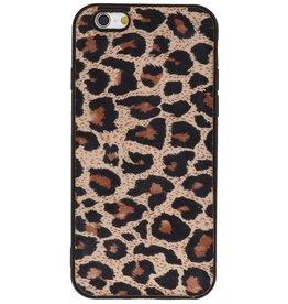 Luipaard Leer Back Cover iPhone 6