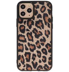 Luipaard Leer Back Cover iPhone 11 Pro