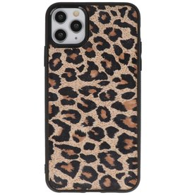 Luipaard Leer Back Cover iPhone 11 Pro Max
