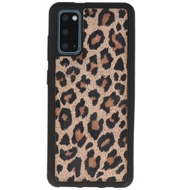 Luipaard Leer Back Cover Samsung Galaxy S20