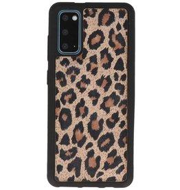 Rückseite aus Leopardenleder Samsung Galaxy S20