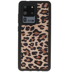 Rückseite aus Leopardenleder Samsung Galaxy S20 Ultra