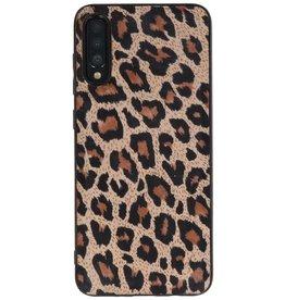 Rückseite aus Leopardenleder Samsung Galaxy A70