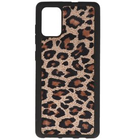 Leopard Leather Back Cover Samsung Galaxy A71