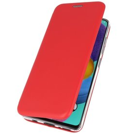 Schlanke Folio Hülle für Samsung Galaxy A01 Rot