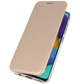 Schlanke Folio Hülle für Samsung Galaxy A01 Gold
