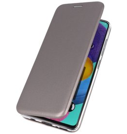 Schlanke Folio Hülle für Samsung Galaxy A01 Grau