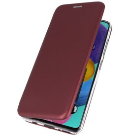 Schlanke Folio Hülle für Samsung Galaxy A01 Bordeaux Rot