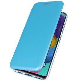 Schlanke Folio Hülle für Samsung Galaxy A71 Blau