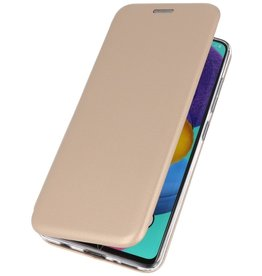 Schlanke Folio Hülle für Samsung Galaxy A71 Gold