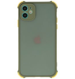Shock Resistant Color Combination Hard Case iPhone 11 Green