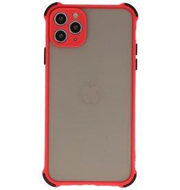 Schokbestendig Kleurcombinatie Hard Case iPhone 11 Pro Max Rood