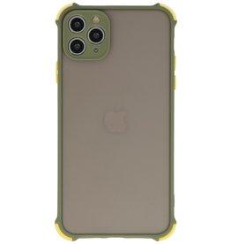 Schokbestendig Kleurcombinatie Hard Case iPhone 11 Pro Max Groen