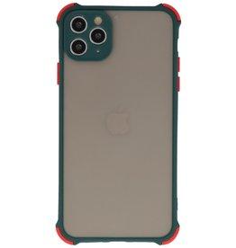 Schokbestendig Kleurcombinatie Hard Case iPhone 11 Pro Max Donker Groen
