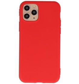 Premium Color TPU Hoesje voor iPhone 11 Pro Rood