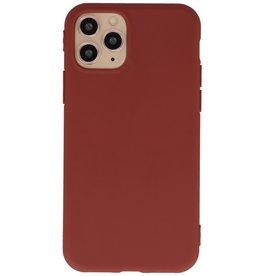 Premium Color TPU Hoesje voor iPhone 11 Pro Bruin