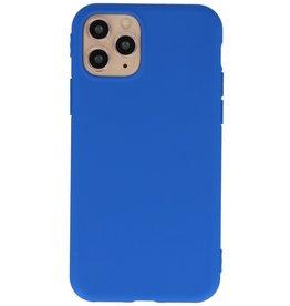 Premium Color TPU Hoesje voor iPhone 11 Pro Max Blauw