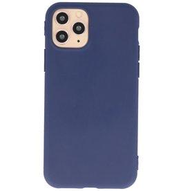 Premium Color TPU Hoesje voor iPhone 11 Pro Max Navy