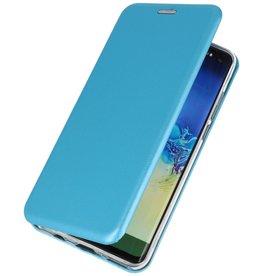 Schlanke Folio Hülle für Samsung Galaxy A21 Blau