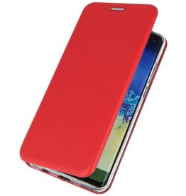 Schlanke Folio Hülle für Samsung Galaxy A21 Rot