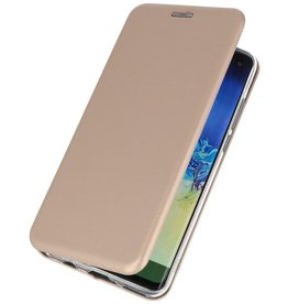 Schlanke Folio Hülle für Samsung Galaxy A21 Gold