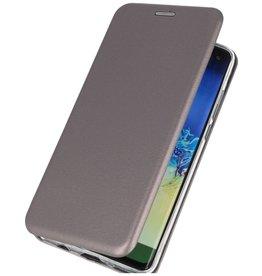 Schlanke Folio Hülle für Samsung Galaxy A21 Grau