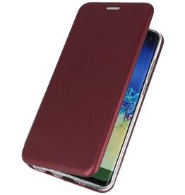 Schlanke Folio Hülle für Samsung Galaxy A41 Bordeaux Rot