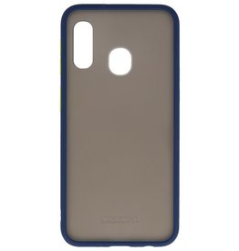 Color combination Hard Case for Galaxy A11 Blue
