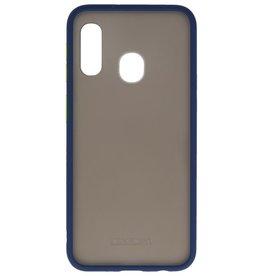 Kleurcombinatie Hard Case voor Galaxy A11 Blauw
