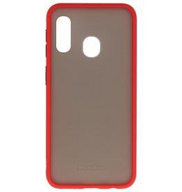 Kleurcombinatie Hard Case voor Galaxy A11 Rood