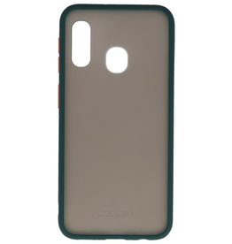 Color combination Hard Case for Galaxy A11 Dark Green