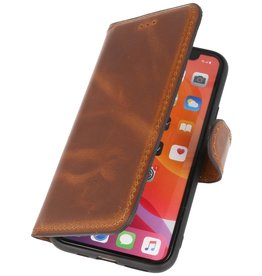 MF handgefertigte Leder Bookstyle Hülle iPhone 11 Pro Max Brown