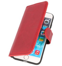 MF Handmade Leather Bookstyle Case iPhone SE 2020/8/7 Red