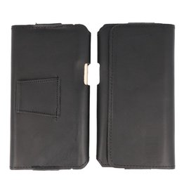 MF Handmade Leather Horizontal Tote Bag Size L Black