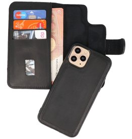 MF Handmade 2 in 1 Leather Book Type Case for iPhone 11 Pro Black
