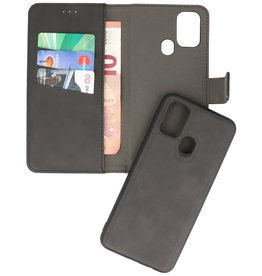 2 in 1 Book Case Cover for Samsung Galaxy A21s Black