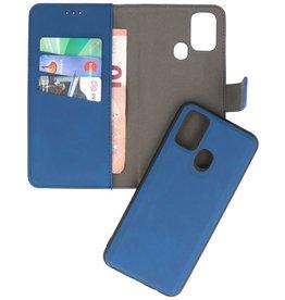 2 in 1 Book Case Hoesje voor Samsung Galaxy M31 Navy