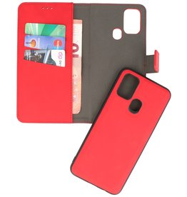 2 in 1 Book Case Cover for Samsung Galaxy M31 Red