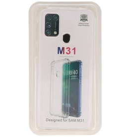 Stoßfeste TPU-Hülle für Samsung Galaxy M31 Transparent
