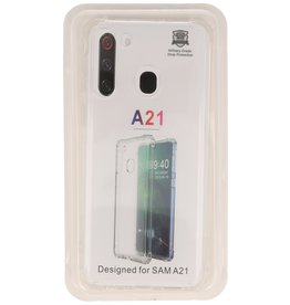 Shockproof TPU case for Samsung Galaxy A21 Transparent