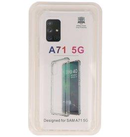 Schokbestendig TPU hoesje Samsung Galaxy A71 5G Transparant