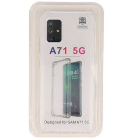 Shockproof TPU case for Samsung Galaxy A71 5G Transparent