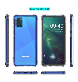 Shockproof TPU case for Samsung Galaxy A31 Transparent