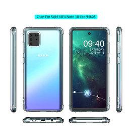 Shockproof TPU case for Samsung Note 10 Lite Transparent