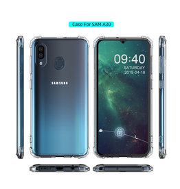 Stoßfeste TPU-Hülle für Samsung Galaxy A20 Transparent