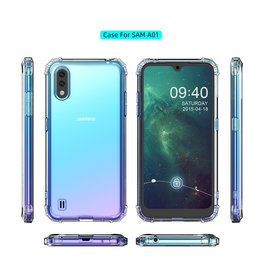 Shockproof transparent TPU case for Samsung Galaxy A01