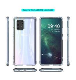 Shockproof transparent TPU case for Samsung Galaxy S10 Lite