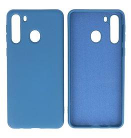 Fashion Color TPU Case Samsung Galaxy A21 Navy